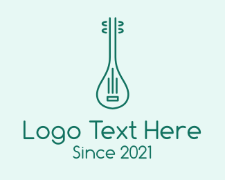 Instrument - Minimalist Mandolin Instrument logo design