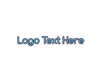 Baseball Hat - Cute & Blue logo design