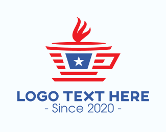 Hot Choco - Patriotic Coffee Cup logo design