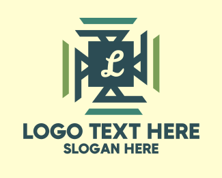 Texture - Geometric Tile Letter logo design