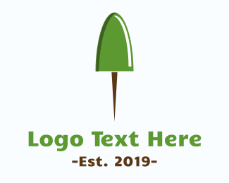 Pinterest - Pushpin Tree logo design