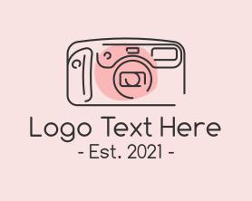 Camera - Classic Camera Monoline logo design