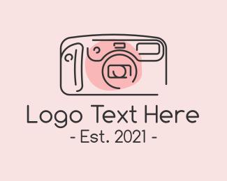 Image - Classic Camera Monoline  logo design