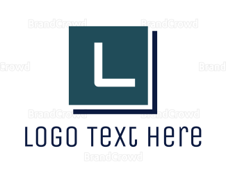 Lawyer - Blue Lettermark Brand logo design