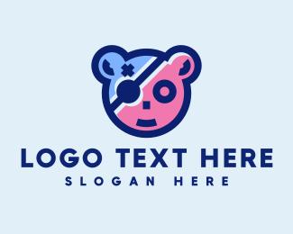 """Cute Bear Gaming Mascot"" by novita007"