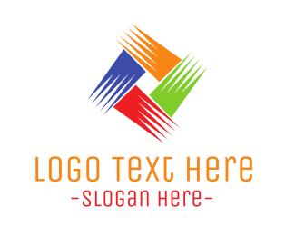 Brushstroke - Colorful Brushstrokes logo design