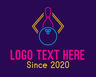 Neon - Neon Bowling Game logo design