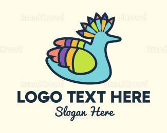 Duck - Tropical Parrot logo design