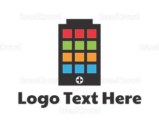 Electrical Energy - Battery Application logo design