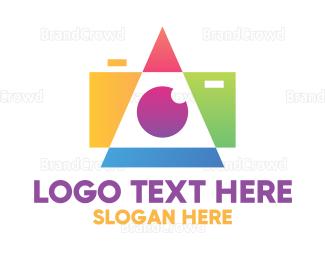 Shape - Geometric Camera Shape logo design