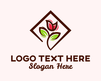 Delicate - Rose Flower Petals logo design