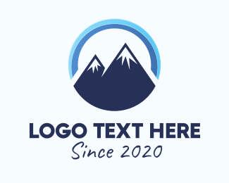 Mountain Climbing - Blue Mountain Peak logo design