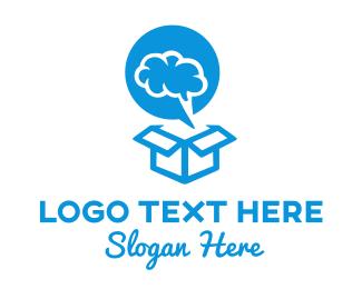 Ai - Brain Box logo design