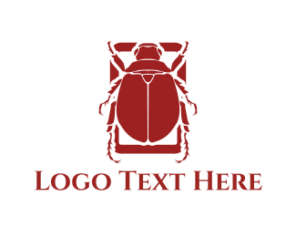 Pest Control - Red Beetle logo design