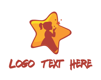 Wish - Girl Star logo design
