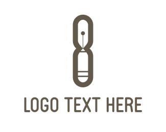 Graphic - Eight Pencil logo design