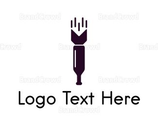 Wine - Wine Missile logo design