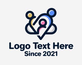 Link - Family Link Heart logo design