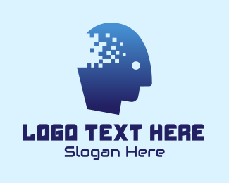 Mind - Mind Pixel Technology  logo design