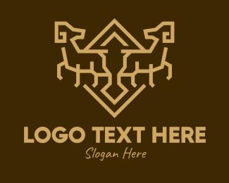 Blue Goat - Brown Goat logo design