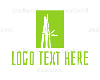 Plants - Green Bamboo logo design