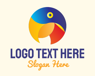 Tropic - Round Parrot Badge logo design