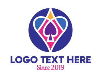 Gamble - Poker Cards Symbols logo design