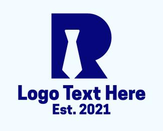 Recruiter - Letter R Tie logo design