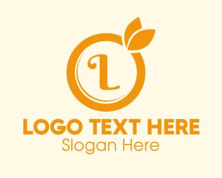 Oj - Orange Fruit Lettermark logo design