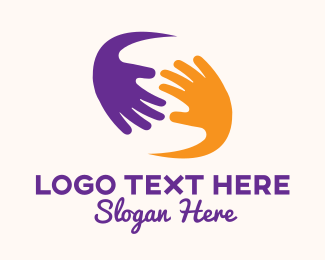 Volunteer - Caring Hands Community logo design