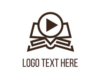 Hulu - Video Book logo design