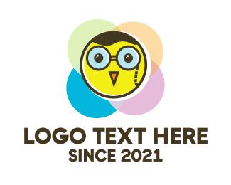 Animation - Nerd Little Chicken logo design
