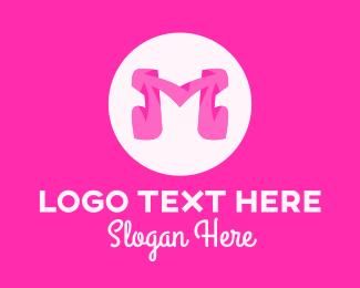 Fashion - Pink Fashion Letter M logo design