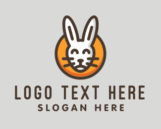 Rabbit Ears - Happy Bunny  logo design