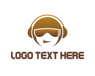 Headset - Music Dude logo design