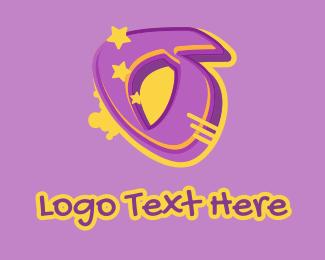 Record Producer - Graffiti Star Letter O logo design
