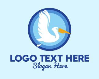 Freshwater - Migratory Pelican Bird logo design
