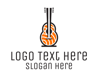 Restaurant - Guitar Sashimi logo design