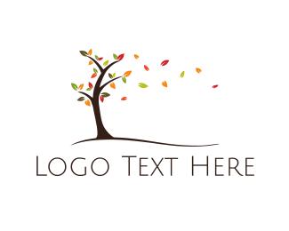 Season - Autumn Tree logo design
