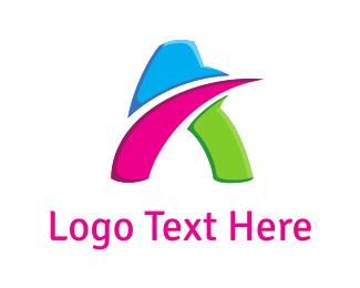 Motion - Colorful Letter A  logo design