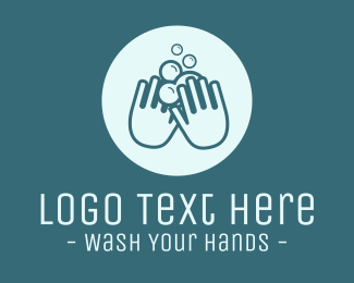 Covid19 - Handwash Soap Bubbles logo design