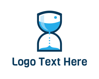 Pool Hot Tubs Water Hourglass logo design