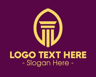 Investment - Golden Attorney Pillar logo design