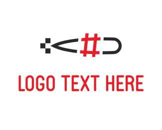 Hack - Submarine Hashtag logo design