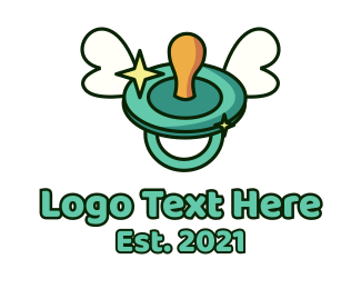 Baby Boutique - Baby Pacifier Wings logo design