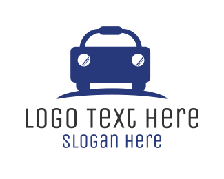 Car Hire - Blue Budget Car Automotive logo design
