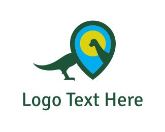 Dinosaur - Dinosaur Locator logo design