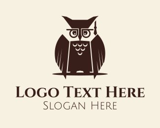 Phd - Owl Graduation logo design