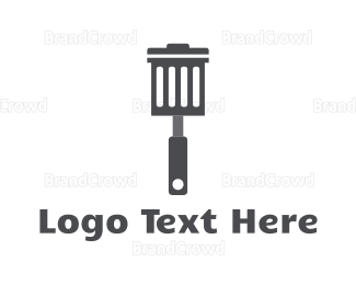 Cleaning Services - Garbage Spatula logo design
