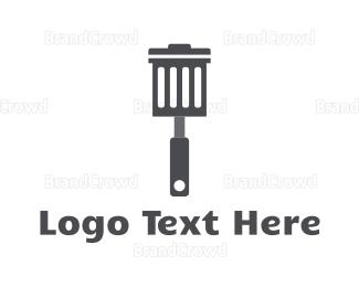 Disposal - Garbage Spatula logo design